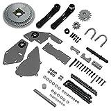 sthus Silver Shifter Kit Jackshaft Kit for Regular 415 Chain 66cc 80cc Gas
