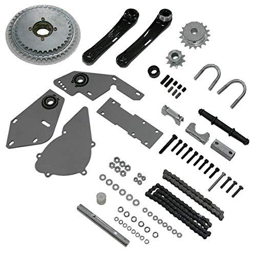 sthus Silver Shifter Kit Jackshaft Kit for Regular 415 Chain 66cc 80cc Gas 2 Stroke Motorized Bicycle Bike