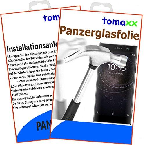 tomaxx Panzerglas für Sony Xperia XA2 Ultra auch Dual SIM - Panzerfolie Glasfolie Displayschutzfolie