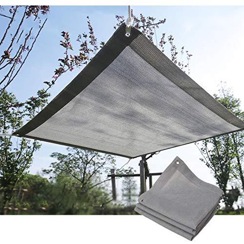 GHHZZQ Paño de Sombra Transpirable Malla de Sombra 90% Refugios Solares Engrosado y Cifrado por Pabellón Pérgola Balcón, Gris, Personalizable (Color : Gray, Size : 3x3m)