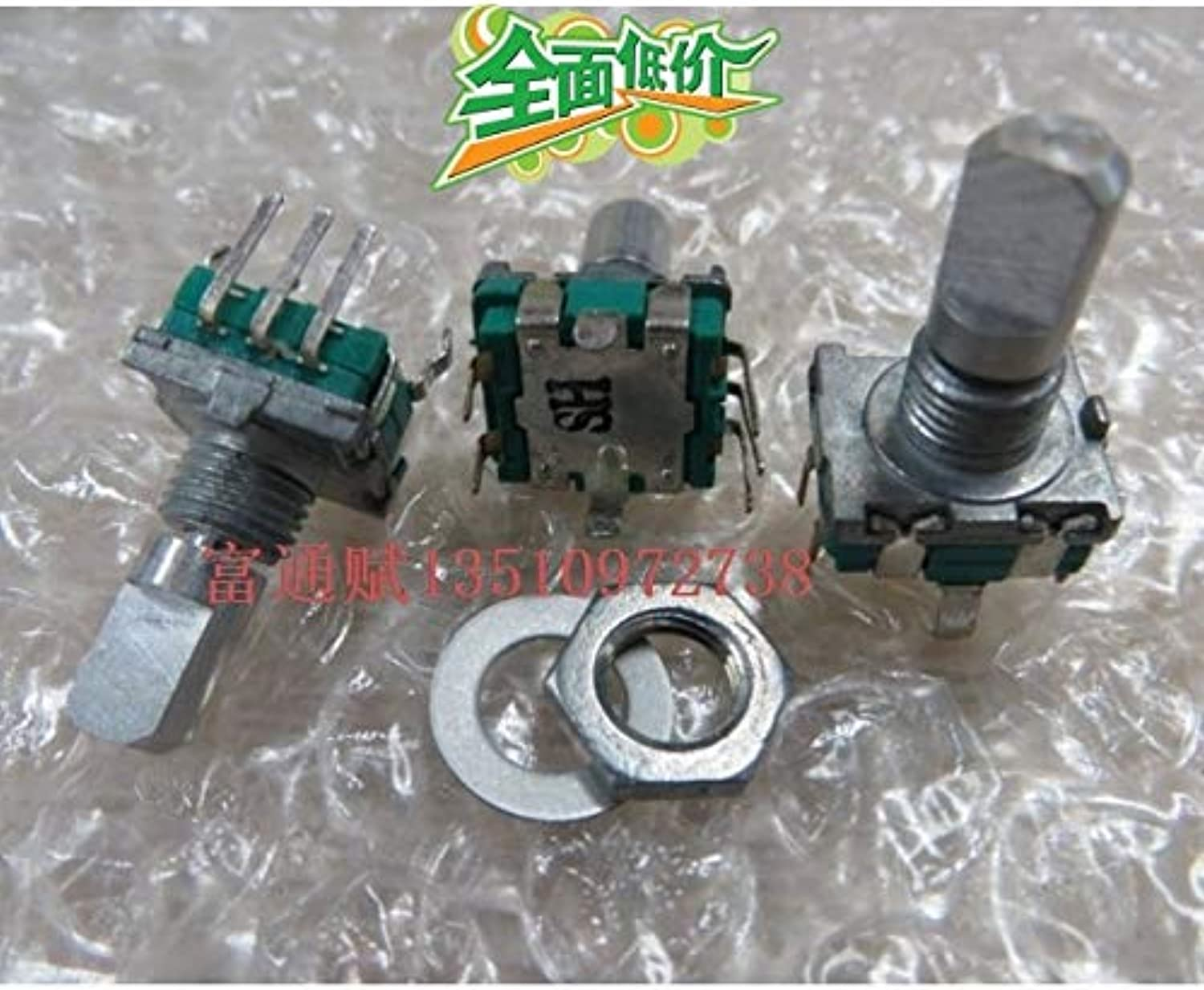 [VK]EC11 onBoard Digital Pulse Step by Step 15MM axle Shaft Encoder Switch 20 with Switch