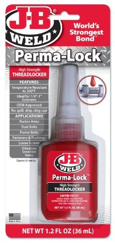 J-B Weld 27136 Perma-Lock High Strength Threadlocker - Red - 36 ml