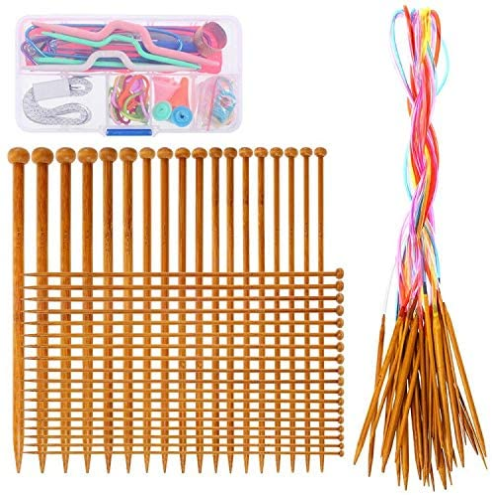 Knitting Needles Set- RELIAN 36 Pcs Ranking TOP11 18 Pointed Single Sizes Bamb Raleigh Mall