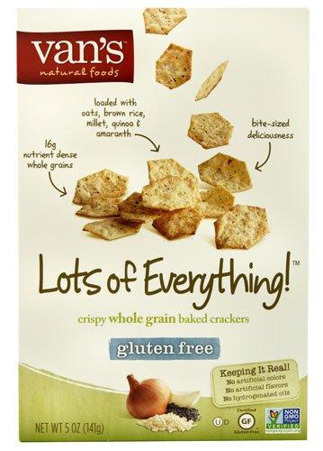 Van's Natural Foods Rapid rise Crispy Whole Baked Grain Fre Gluten Crackers 2021