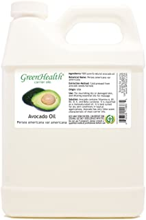 GreenHealth Avocado – 32 fl oz (946 ml) Plastic Jug w/Cap – 100% Pure Carrier Oil