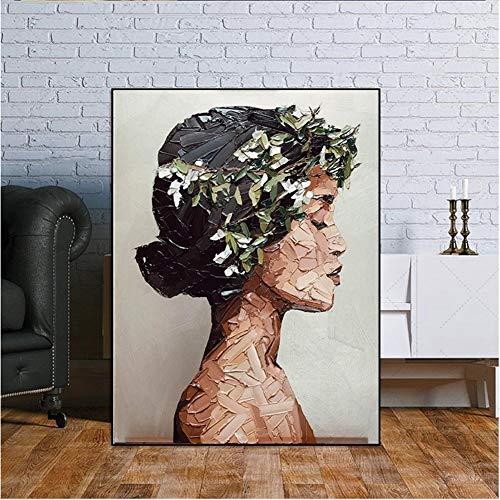 XSYYQYLL Cuadro en la Pared Retrato al óleo Pintura de la Mujer Pósteres Láminas de Cuadros de la Pared for Sala de Estar Decoración No Frame Pintura de la (Size (Inch) : 50x70cm)