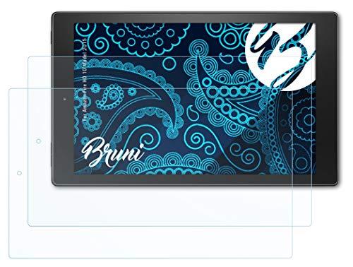 Bruni Schutzfolie kompatibel mit Amazn F¡re HD 10 Model 2015 Folie, glasklare Displayschutzfolie (2X)