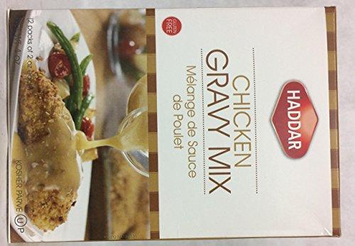 Haddar Chicken Gravy Mix Gluten Free Kosher For Passover 4 oz. Pack of 6.