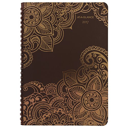 """AT-A-GLANCE Weekly / Monthly Planner / Appointment Book 2017, 13 Months, 5-1/2 x 8-1/2"""", Wirebound, Henna (551-200)"""