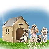 ACLBB Legno Casa per Gatti 1 Porte Casa Gatto Smontabile Lavabile All'Aperto al Coperto Cuccia Piccoli Animali Cucce E Habitat,XL