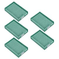 uxcell ネジトレー ネジホルダー 防静止 硬プラスチック製 1.0mm-1.5mm グリーン 5個入