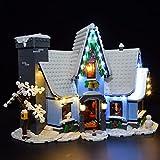 CALEN Juego de luces LED para Lego 10293 Santas Visit Building Blocks Modelo, iluminación suave, compatible con Lego 10293 (solo LED incluido)