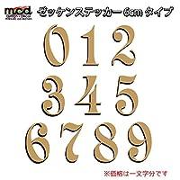 マニアックコレクション(maniac collection)使い方色々 ゼッケンステッカー カッティング ゴールド 6cm 1文字分 飾り文字 ショップ ヘルメット 数字