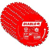 Freud D0724X Diablo 7-1/4-inch 24T ATB Perma Shield Framing Saw Blades, 10-Pack