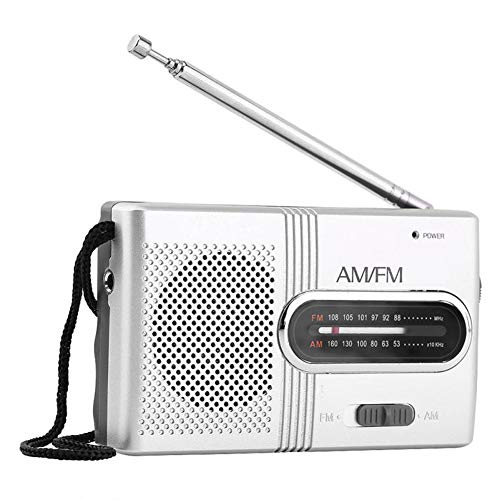 GFFG Pocket Small Radio, Personal Portable Radio Telescopic Antenna Speaker Mini Outdoor Dual Band AM FM Music Player Radio Stereo, Digital Tuning Transistor Radios with Best Reception, Lanyard