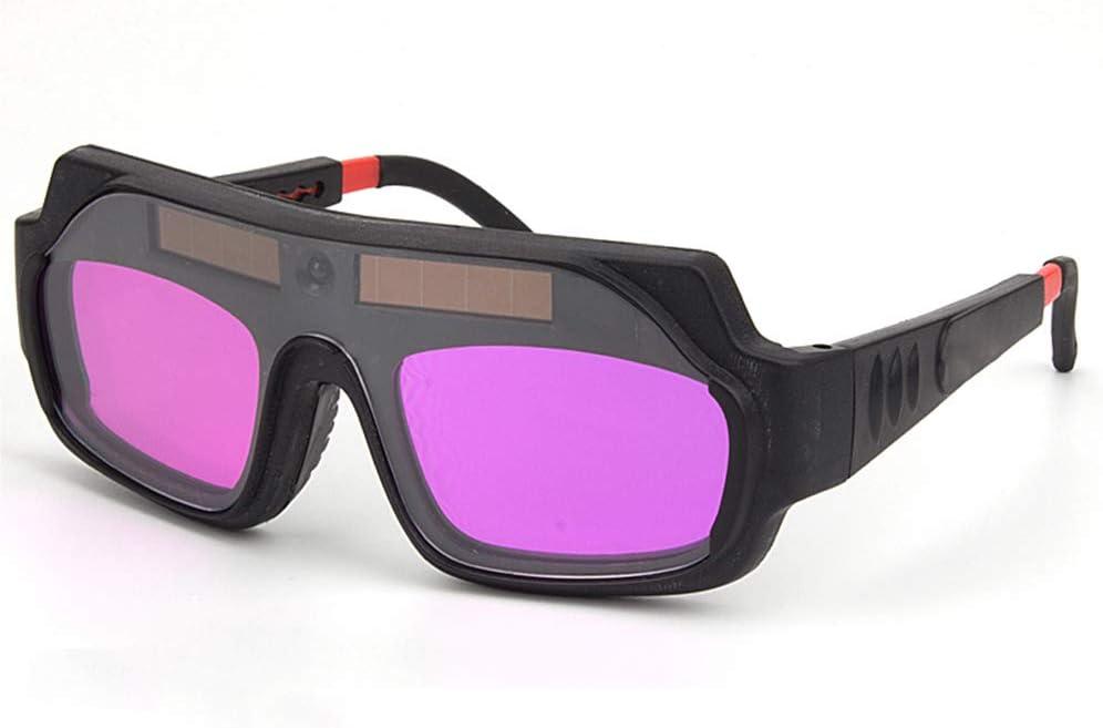 LAIABOR Solar Gafas De Soldar De Oscurecimiento Automático con Sensores Premium/Resistente A Los Rayos UV/Infrarrojo/Antideslumbrante, Adecuado para Soldadura por Gas/Soldadura De Placas De Acero