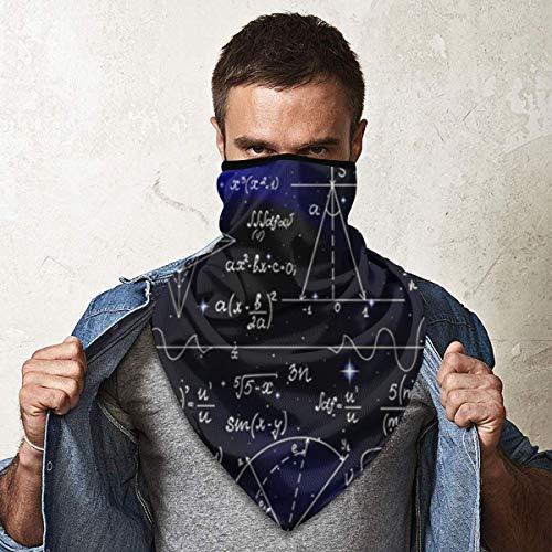 Funny Caps Fórmulas infinitas matemáticas física ciencia personalizado 3d sin costuras calentador de cuello media cara pañuelos bufanda pasamontañas para hombres mujeres jóvenes niños