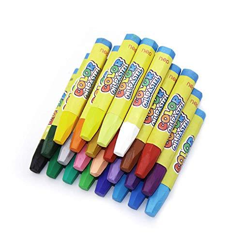 YFaith 24 Piezas Hexagonal Pintura De Aceite Sticks,Arte Brillante Color Creyones,Pasteles al óleo para Niños,No Tóxico Pastel,Para Artistas Escolares,Niños y Adultos(24 colores)