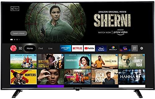 Croma 139 cm (55 inches) Fire TV 4K Ultra HD Smart LED TV (CREL7368, Black) (2021 Model)