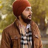 Photo de Spacetouch Turban Sikh Dumalla Chand Tora Dumalla Warrior Style Turban F74 Dumalla 8 mètres, couleur café