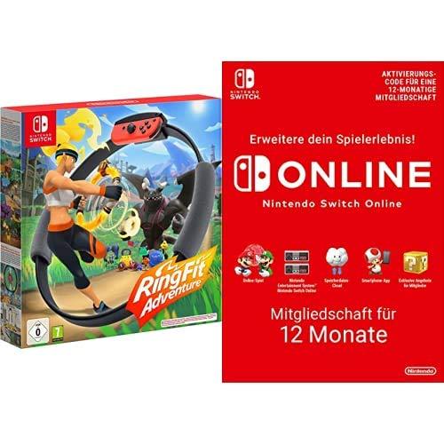 Ring Fit Adventure - [Nintendo Switch] + Nintendo Switch Online Mitgliedschaft - 12 Monate | Switch Download Code