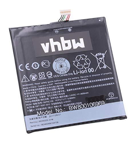 vhbw Li-Polymer Akku 2600mAh (3.8V) für Handy Smartphone Telefon HTC A5, Desire 816, Desire 816 Dual SIM, Desire 816w wie 35H00220-01M, B0P9C100.