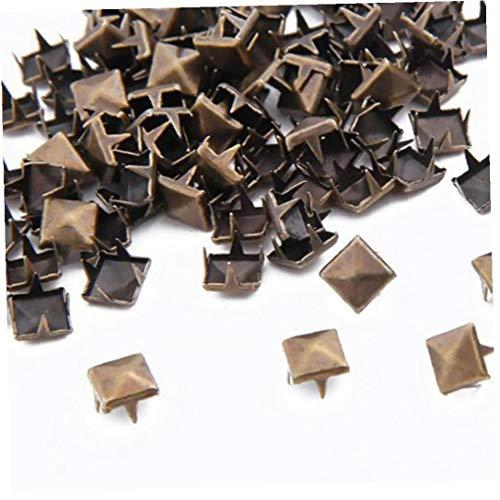100 unidades de 8 mm punk metal de los pernos prisioneros de la pirámide puntos de Nailheads de los zapatos del bolso pulsera Accesorios Industriales