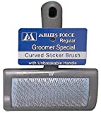Best Dog Slicker Brushes - Millers Forge Stainless Steel Pins Universal Curved Pet Review