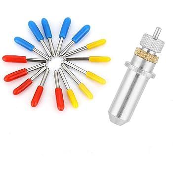 AFUNTA - Cuchillo de trinchar (30 unidades, 30/45/60 grados, vinilo, para CB09 CB09U Graphtec), color azul, amarillo y rojo: Amazon.es: Bricolaje y herramientas