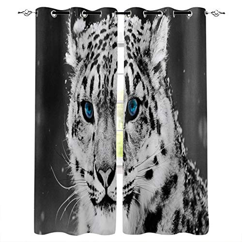 FTCAKET Tenda A Rullo Per Porta Finestra Manga Tende Per Gazebo blu animali Camera Da Letto Soggiorno Decorazione Da Finestre Passanti 2 Pezzi Tenda Oscurante Con Occhielli 168x183 cm /66x72 inch