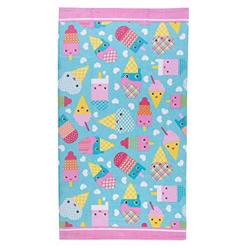 Toalha de Banho Infantil Candy Teka Multicolorido Algodão
