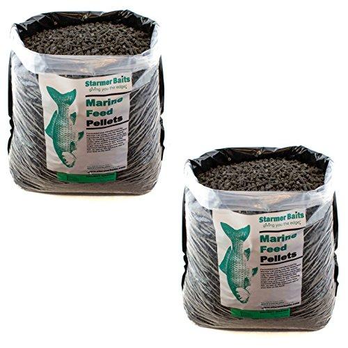 Heilbutt-Pellets zum Karpfenangeln und Friedfischangeln, stark ölhaltig, 25kg, 5mm