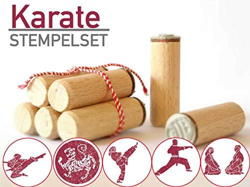 13gramm Karate Stempelset Geschenk, 5-teilig aus Buchen-Holz