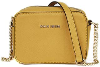 Borsa a tracolla piccola in pelle per le donne Mini Zip Borsa rigida Messenger Bag