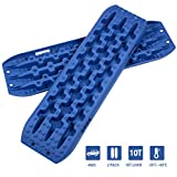 OPENROAD 2PACK 10T Traction Boards,2 Gen Portable Recovery Boards,Tire Traction Mats for Sand Snow Mud Off-Road Accessories(Blue Color)