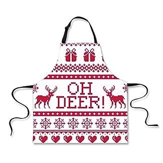 POLERO Christmas Apron - Reindeer OH DEER