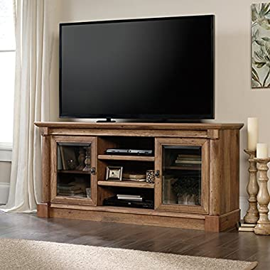 Sauder 420600 Entertainment Credenza, For Tvs Up to 60 , Vintage Oak
