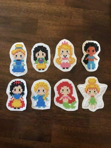 Pegatinas de pintura con diamantes de princesa de Disney, acabadas.