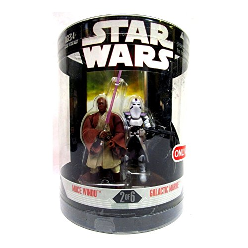 Hasbro Order 66 Set Jedi Master Mace Windu & Galactic Marine - Star Wars 30th Anniversary Collection