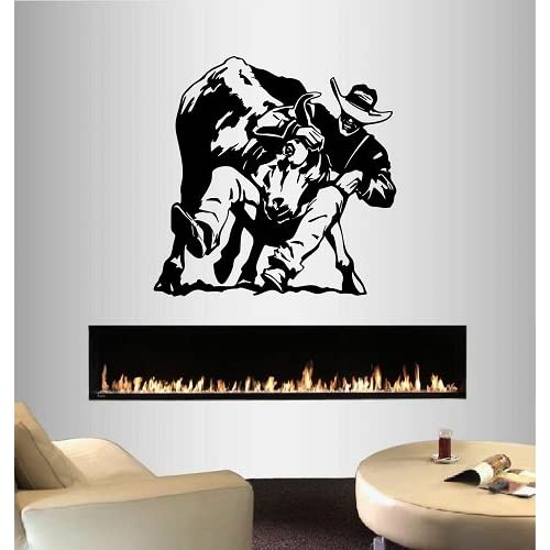 Animal Decal Wall Art Sticker Picture Bull Riding Rodeo