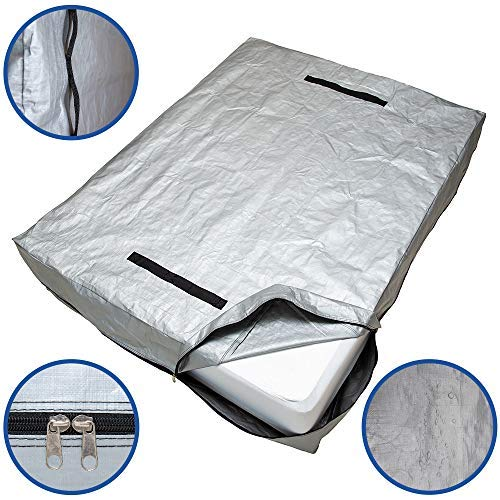 CALOONA Mattress Bags for Moving and Storage-Patent Pending Reusable Mattress Cover for Moving Twin Size with Reinforced Handles and Heavy Duty Zipper-Extra Thick Mattress Protector Storage Bag
