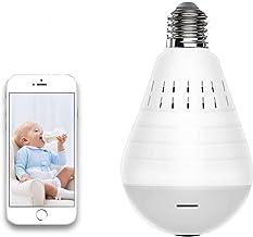 Light Bulb Security Camera WiFi,1080P Wireless Security Camera Bulb,2MP Fisheye 360°..