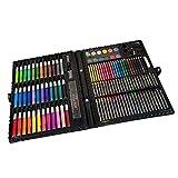 150 piezas de juegos de dibujo artístico para artistas, juego de rotuladores de arte de dibujo a lápiz de colores con crayón, pincel de pintura al óleo, juego de arte profesional, regalo para niños.