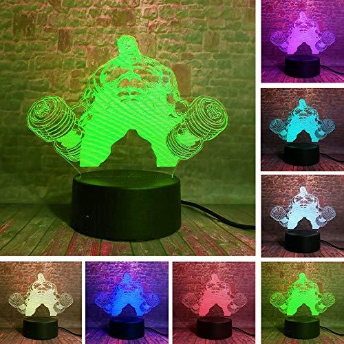 Hot Marvel Avengers Held Hulk Hantel Formen Gewichtheben IR Gradient Weihnachten 3D LED Nachtlicht USB Tischlampe Kinder Geburtstag Geschenk Nachtbett Dekoration