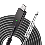 USB Guitar Cable,YESPURE Guitar Bass to USB Link Connection Cable Adapter,Professional Guitar to PC USB Link Recording Cable Lead Adaptor 2.8M/9.2FT
