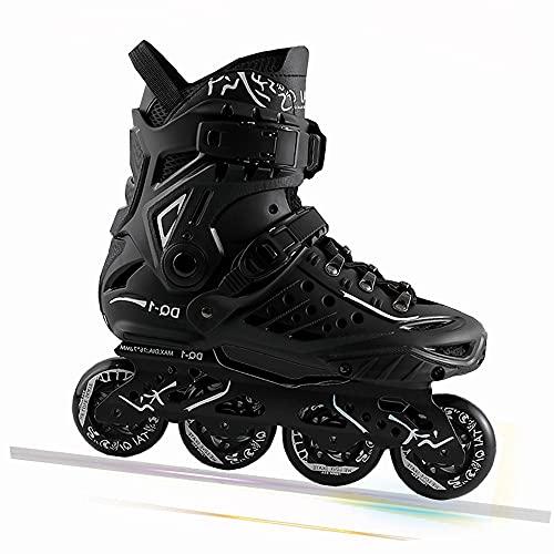 DODOBD Inliner Herren Damen Rollerblades Inlineskates Rollschuhe für Outdoor und Indoor Unisex Fitness Skates für Erwachsene und Kinder, 82A Rollen ABEC-7 Chrome Kugellager,Schwarz