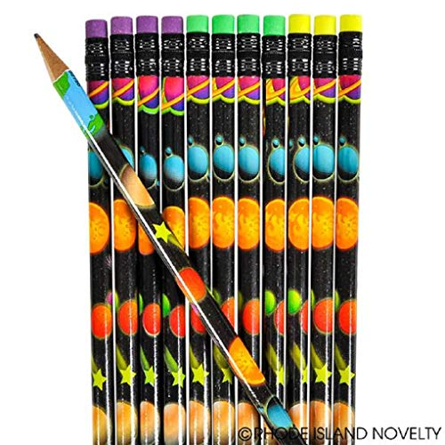 OUTER Space Themed Pencils - CLASSROOM - Party Favors - Doctor/DENTIST Treats TEACHER Solar System - SCIENCE (Four Dozen (48))