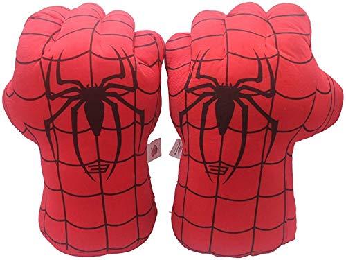 Plüsch Kinder Boxhandschuh Spideman Spielzeug Super Hero Spide Man Handschuhe Plüsch Smash Hands Fäuste Incredibles Spider Kostüm Cosplay für Jungen & Mädchen