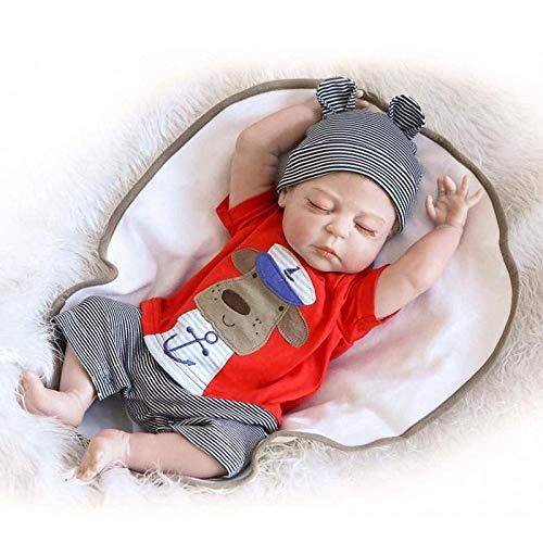 Mueca renacida,Muecas de beb Reborn Lavables Hechas a Mano de 20 Pulgadas y 55 cm, muecas recin Nacidas de Silicona Suave de Cuerpo Entero Real para nios, Juguetes de Regalo