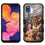 for Samsung Galaxy A10e Case, Galaxy A10e Hard+Rubber Dual Layer Hybrid Heavy-Duty Rugged Impact Cover Case - Beauty and The Beast #A
